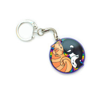 Colourful Circle Cats - Keyring