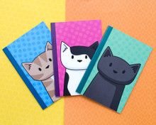 Set of Three Doodlecats Notebooks - A6 Lined