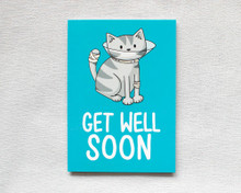 Get Well Soon Cone - Greetings Card