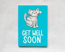 Get Well Soon Cone - Greetings Card