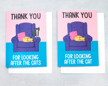 Thank you for looking after the cat(s) - Greetings Card