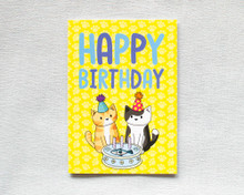 Happy Birthday - Greetings Card - Fish Cake