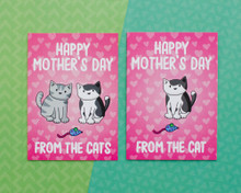 Happy Mother's Day From the Cat(s) - Greetings Card