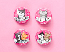 Cat Mum Badge