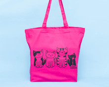 Four Cats - Large Shopper Bag