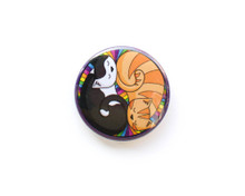 Colourful Circle Cats - Fridge Magnet