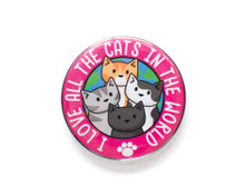 I Love All The Cats In The World - LARGE Fridge Magnet