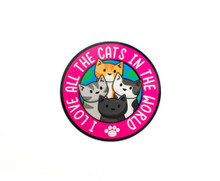 I Love All The Cats In The World - Window Cling