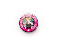 I Love All The Cats In The World -  pin badge