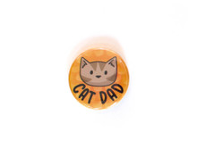 Cat Dad - pin badge