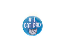 #1 Cat Dad - pin badge