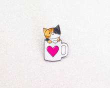 Coffee Cat - Enamel Pin