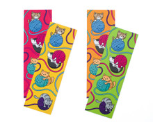 Cats and Yarn Bookmarks x2