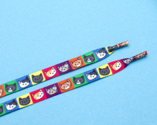 Colourful Cat Shoelaces