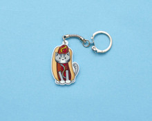 Hotdog Cat - Key Ring