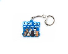 Rescue Cats are the Best Breed - Key Ring