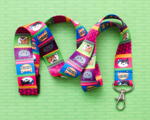Cool Cats - Lanyard  - with Safety Clip