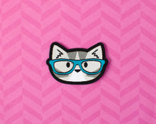 Nerd Cat Mini Patch