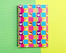 Cattastic - A5 Notebook - Lined Paper - Cute Colourful Cats