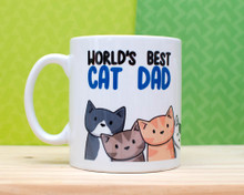 World's Best Cat Dad  - Mug