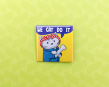 We Cat Do It - Pin Badge - Rosie the Riveter cat :D