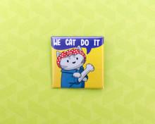 We Cat Do It - Pin Badge - Rosie the Riveter cat :D
