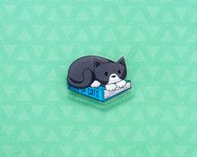 Book Cat - Acrylic Pin