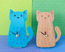 Doodlecats Desk Clock