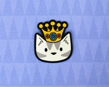 Crown Cat Mini  Iron On Patch