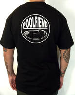 "PoolFiend ""The Badge"" Back logo"