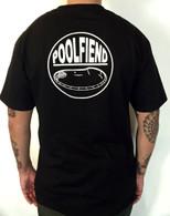 """PoolFiend """"The Badge"""" Back logo"""