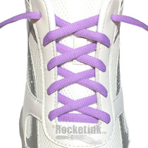 RocketInk Pastel Purple oval athletic shoelaces.