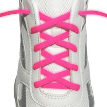 RocketInk Neon Pink oval athletic laces.