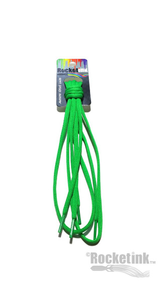 RocketInk Clover Green oval shoelaces.
