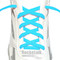 RocketInk Baby Blue oval shoelaces.