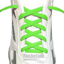 RocketInk Ultra Green oval shoelaces.