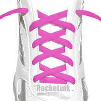 RocketInk Magenta oval shoelaces.
