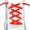 RocketInk Fire Red oval shoelaces.