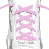 RocketInk Soft Pink oval shoelaces.