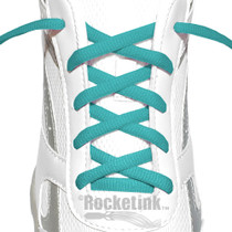 RocketInk Teal oval shoelaces.