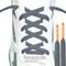 RocketInk Dark Gray with Orange tip shoelaces.