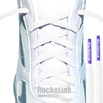 RocketInk White with Purple tip athletic oval laces.