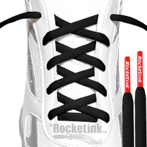 RocketInk Black laces with Fire Red tips.