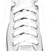 RocketInk White shoelaces.