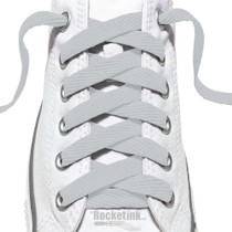 RocketInk Light Gray shoelaces.