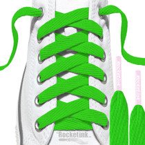 RocketInk Clover Green laces with Soft pink tips.
