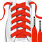 RocketInk FIre Red shoelaces with Black tips.