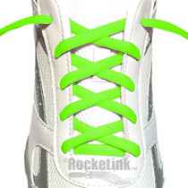 Bright Neon Green athletic oval laces.