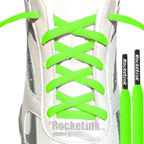 Neon Green laces with Black tips!  RocketInk®