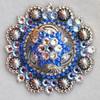 Star, Antique Silver/Sapphire